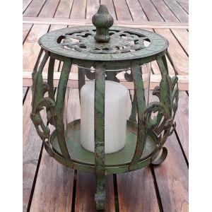 Rustik lanterne m/glas og låg